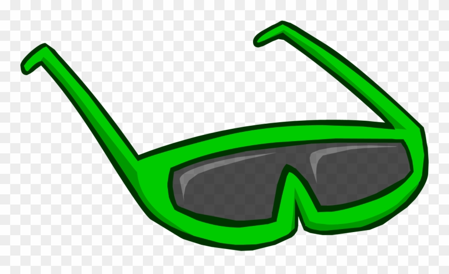 Green sunglasses clipart image library library Green Sunglasses - Club Penguin Rare Face Items Clipart (#652814 ... image library library