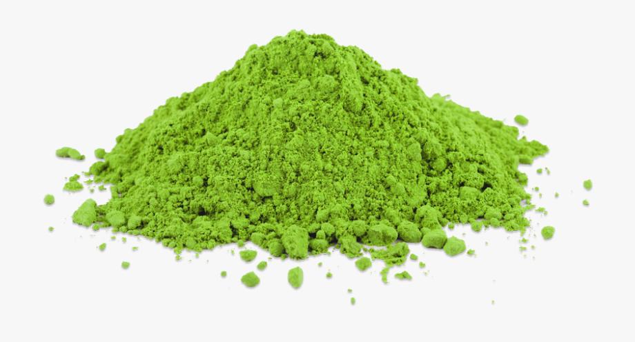 Green tea powder clipart