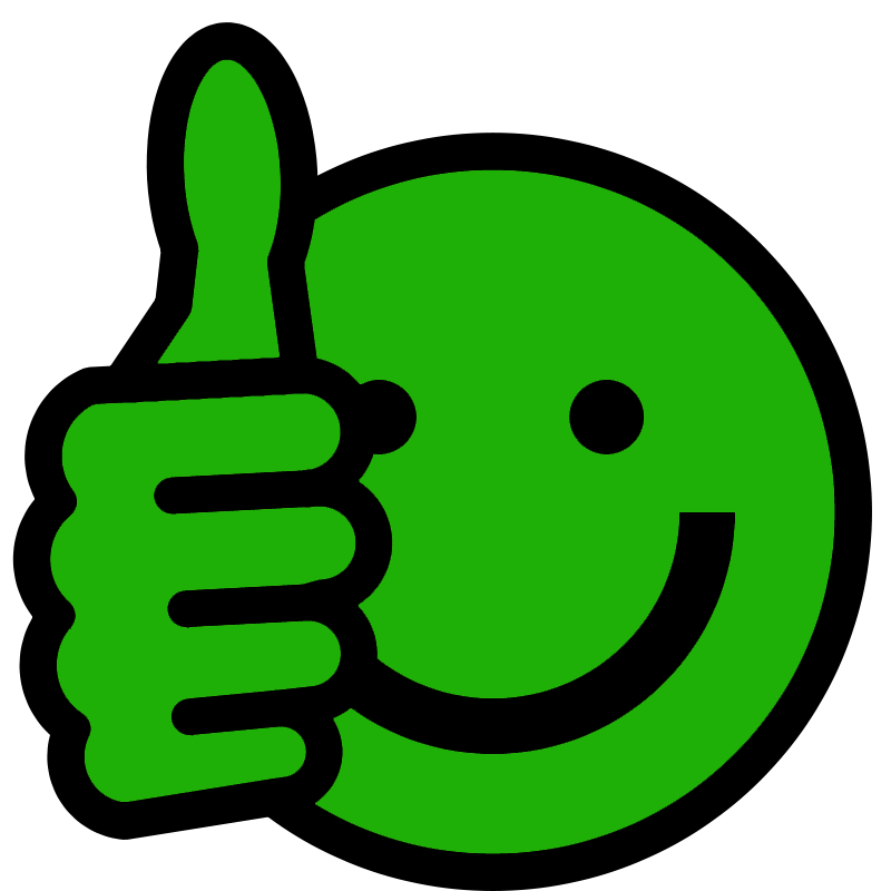 Green thumbs up clipart