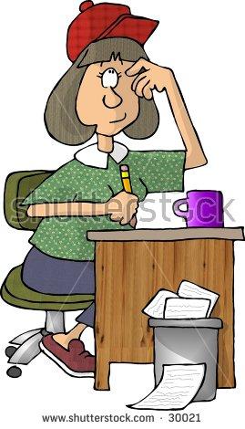 Green visor clerk clipart jpg freeuse download Retro Accountant Green Visor Desk Stock Vector 182836634 ... jpg freeuse download