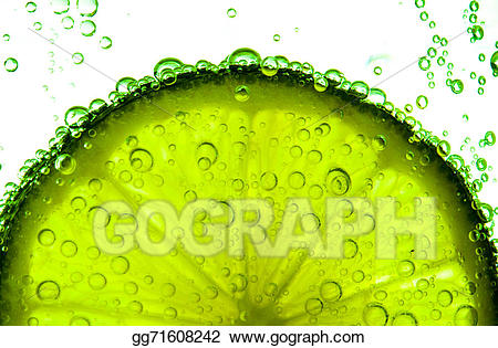 Green water splash clipart banner black and white library Drawing - Green lime with water splash. Clipart Drawing gg71608242 ... banner black and white library
