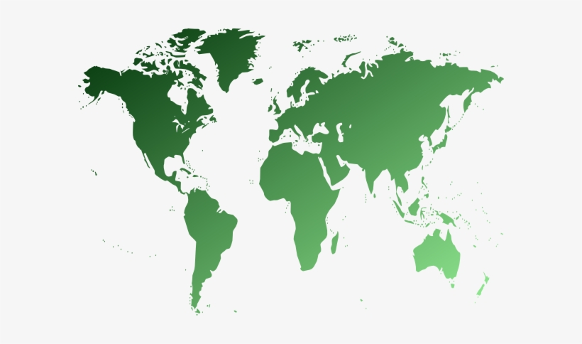 Green world map clipart graphic library stock Map Clipart Green World - Non Political World Map - Free Transparent ... graphic library stock