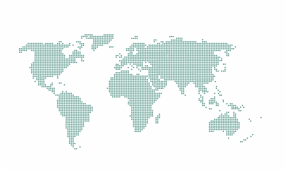 Green world map clipart svg royalty free download World Map Dotted Green - World Map Dotted Transparent Free PNG ... svg royalty free download