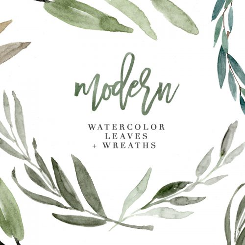 Greenery clipart free picture freeuse Free Watercolor Flowers Clipart, Floral Wreaths, 5x7 Borders picture freeuse