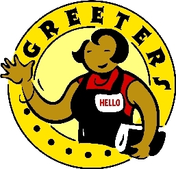 Greeters clipart vector black and white Greeter clipart 3 » Clipart Station vector black and white