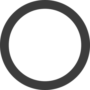 Grey circle clipart picture black and white download Empty Dark Grey Ring Clip Art at Clker.com - vector clip art online ... picture black and white download