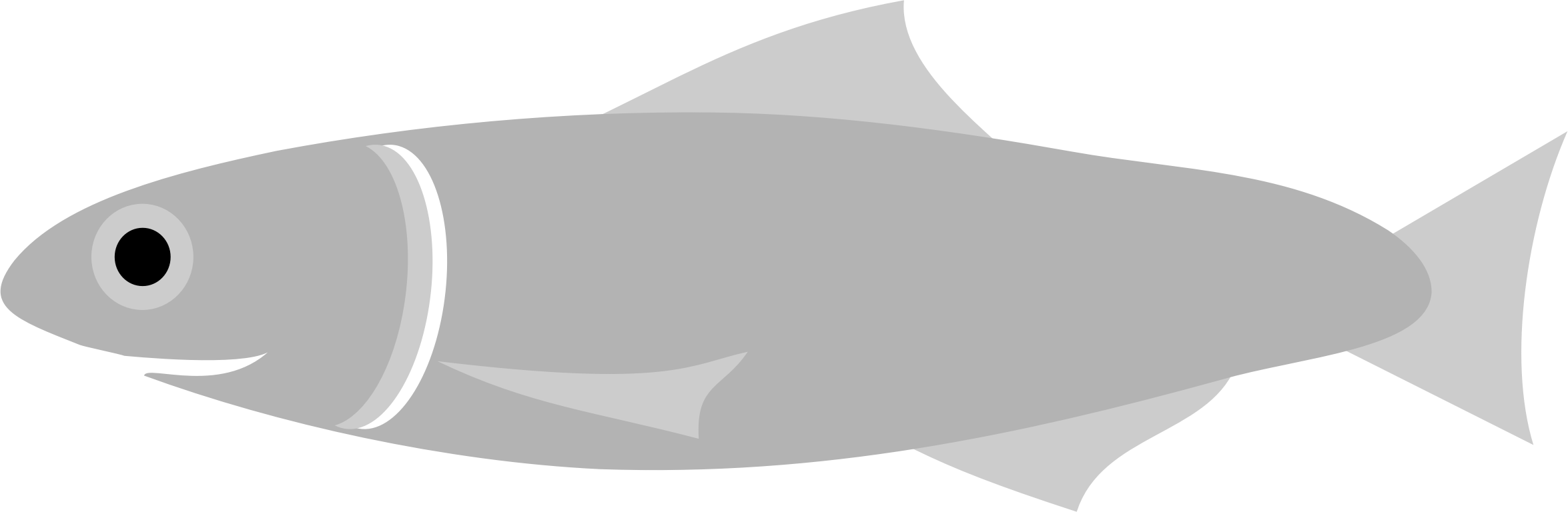 Grey fish clipart image free Clipart - Anchovy Fish image free