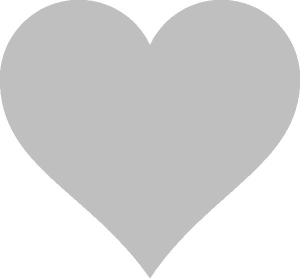 Grey heart clipart image freeuse library Grey Heart Clip Art at Clker.com - vector clip art online, royalty ... image freeuse library