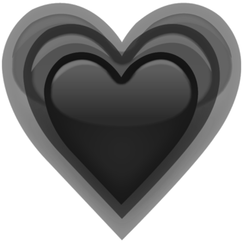 Grey heart clipart clip black and white emoji heart black grey freetouse ftestickers remixit... clip black and white