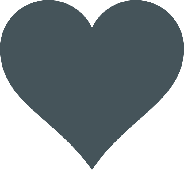 Grey heart clipart png library Grey Heart Clip Art at Clker.com - vector clip art online, royalty ... png library