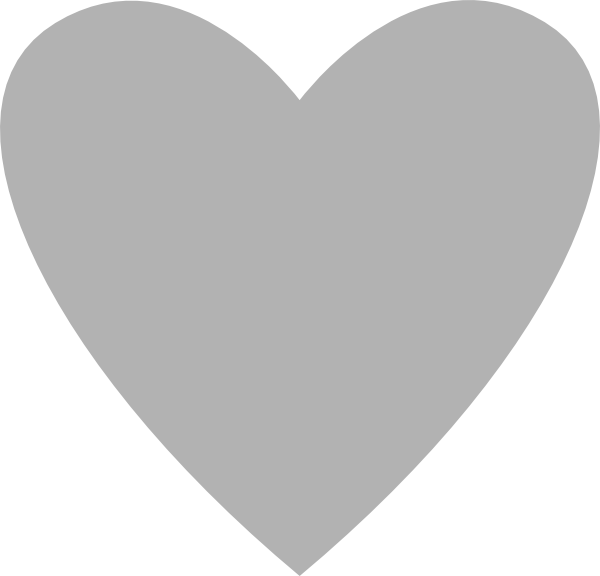 Grey heart clipart image royalty free library Heart Clip Art at Clker.com - vector clip art online, royalty free ... image royalty free library