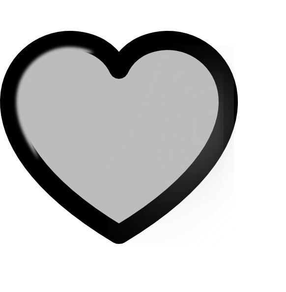 Grey heart clipart image transparent library Grey Heart Clip Art at Clker.com - vector clip art online, royalty ... image transparent library