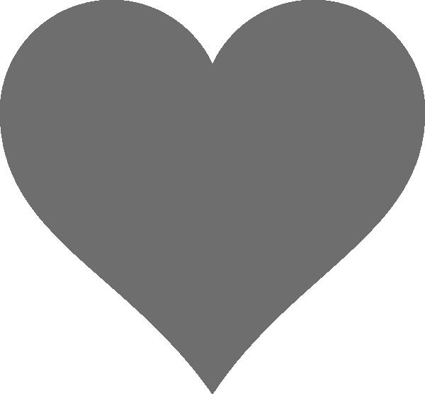 Grey heart clipart graphic royalty free download Grey Heart Clip Art at Clker.com - vector clip art online, royalty ... graphic royalty free download