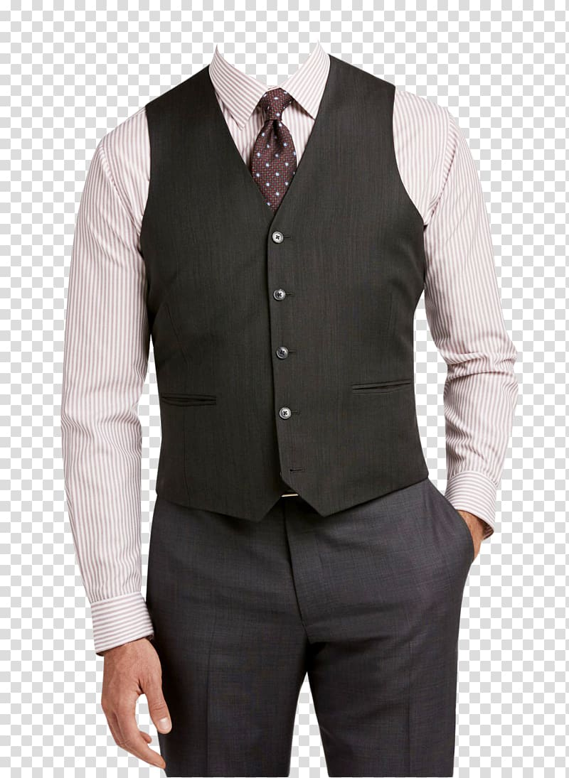 Grey outfit clipart graphic library Men\'s black waistcoat, dress shirt, necktie, and dress pants outfit ... graphic library