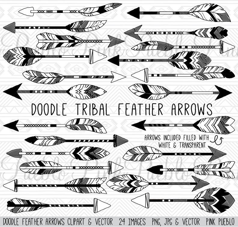Grey tribal arrow clipart svg free Tribal arrow feather clipart - ClipartFest svg free