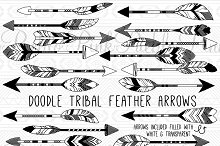 Grey tribal arrow clipart png free library Tribal arrow feather clipart - ClipartFest png free library