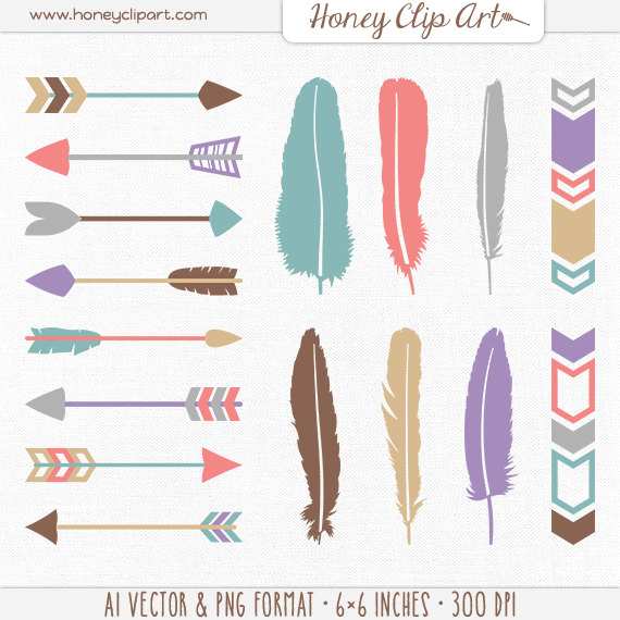 Grey tribal arrow clipart vector library Tribal border | Etsy vector library