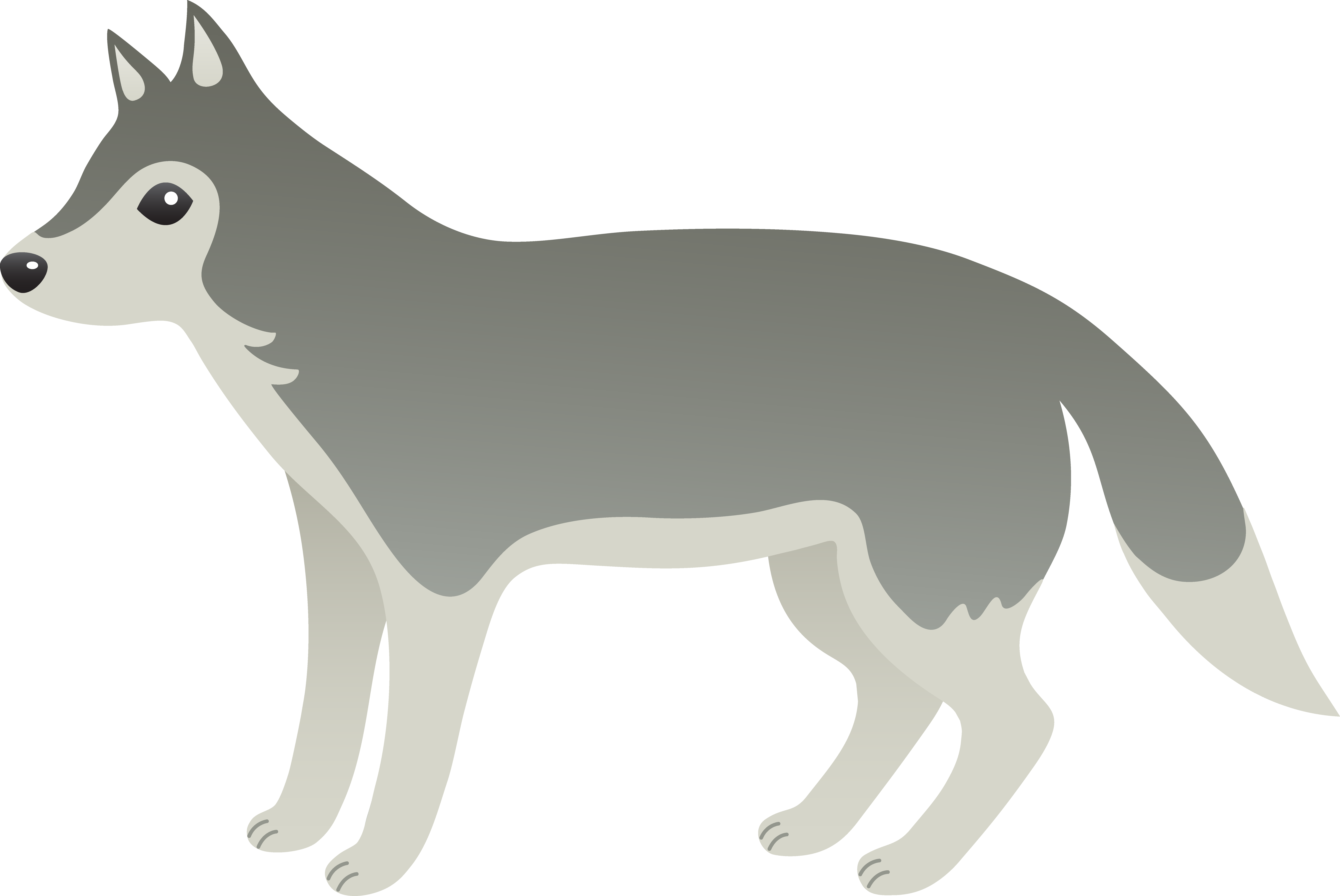 Wolf images free clipart clipart download Cute Grey Wolf - Free Clip Art clipart download