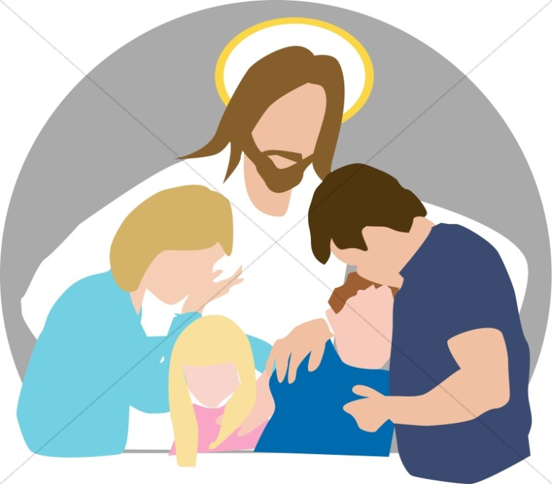 Believe in jesus christ clipart picture free library Jesus Comforts Family in Grief | Church People Clipart picture free library