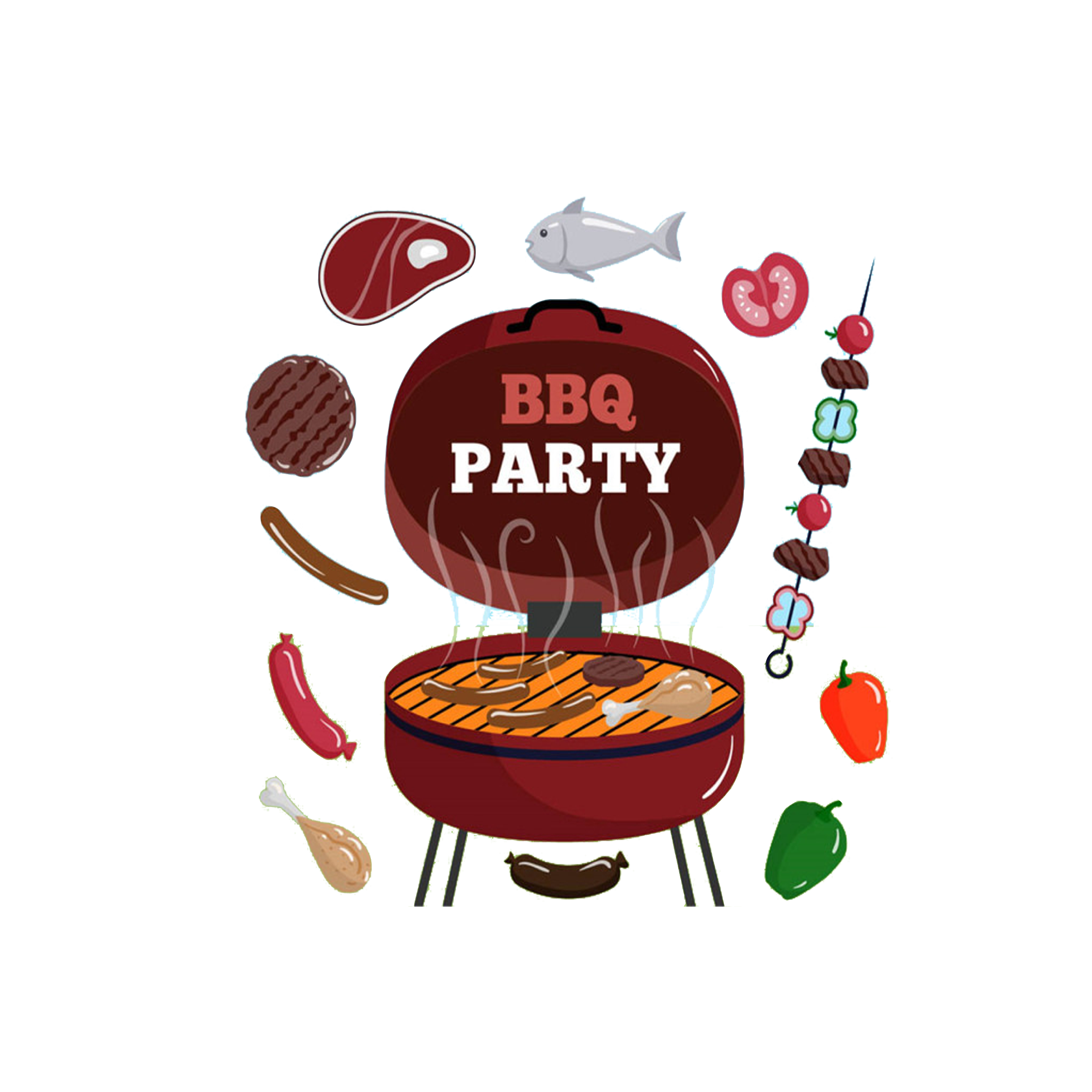Hot dog grilling clipart png freeuse stock Barbecue Hot dog Seafood Steak Buffet - Painted Grill 2362*2362 ... png freeuse stock