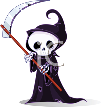 Grim clipart png library iCLIPART - Royalty Free Clipart Image of a Cute Little Grim Reaper ... png library
