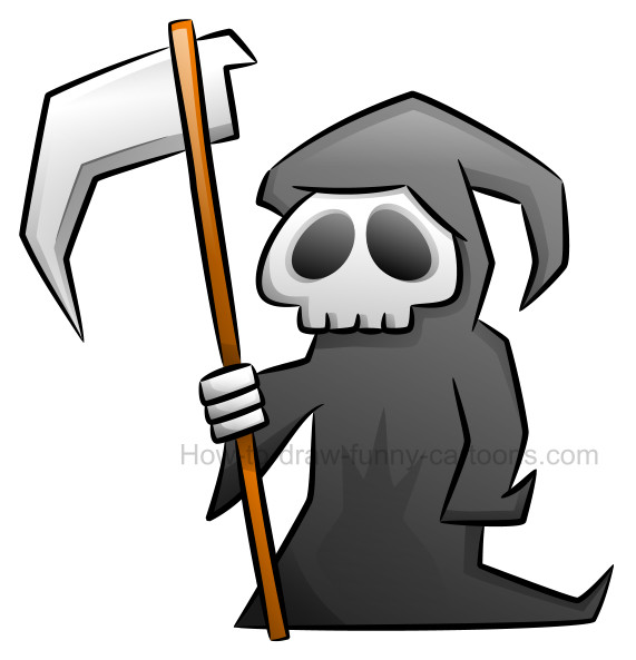 Grim clipart vector black and white download How to draw a grim reaper clipart vector black and white download