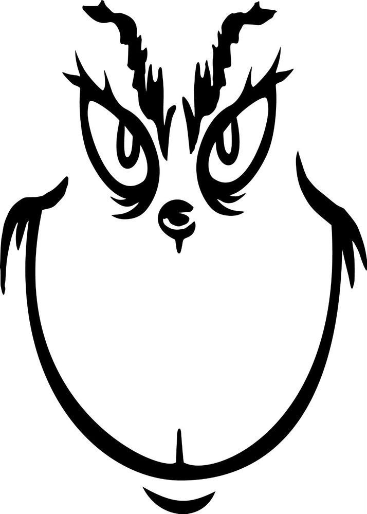 Grinch clipart black white clipart black and white library Grinch clipart black and white 6 » Clipart Portal clipart black and white library
