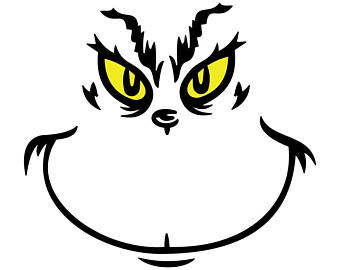 Grinch face clipart