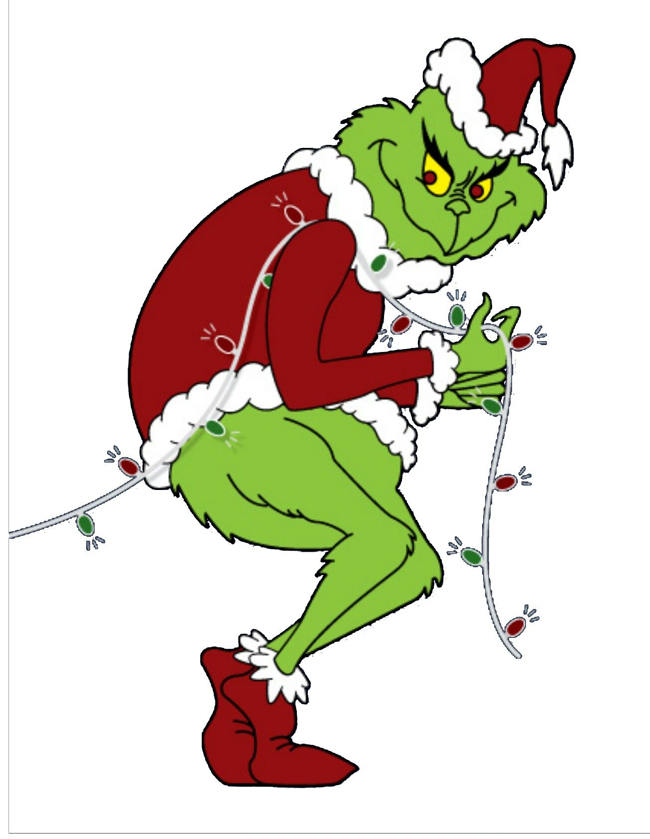 Grinch stealing christmas lights clipart clip art library Grinch color template | Grinch | Grinch, Grinch stole christmas ... clip art library