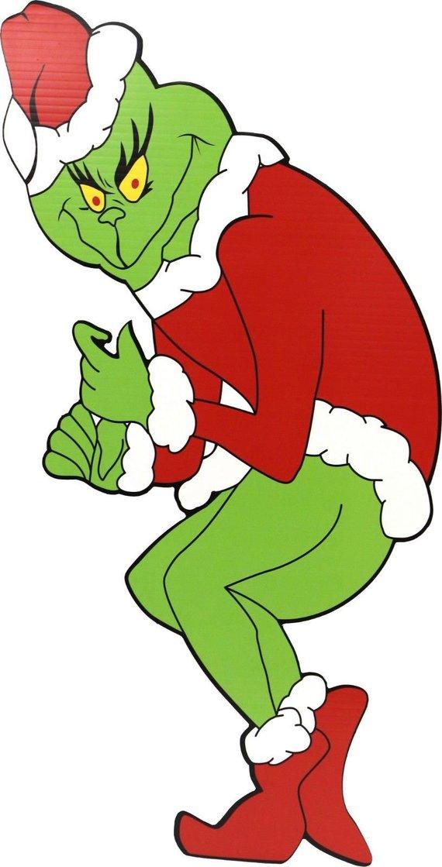 Grinch stealing christmas lights clipart jpg library download Left Facing Grinch Stealing Christmas Lights Yard Art GRINCH, CINDY ... jpg library download