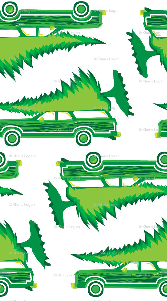 Griswold family christmas clipart free stock Griswold Family Christmas Station wagon with Tree GREEN fabric ... free stock