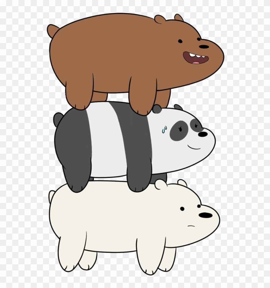 Grizzly bear from we bear bears clipart black and white