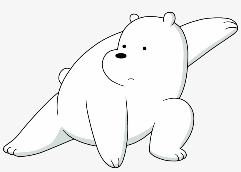 Grizzly bear from we bear bears clipart black and white banner black and white download Ice Bear - We Bare Bears Black - Free Transparent PNG Download - PNGkey banner black and white download