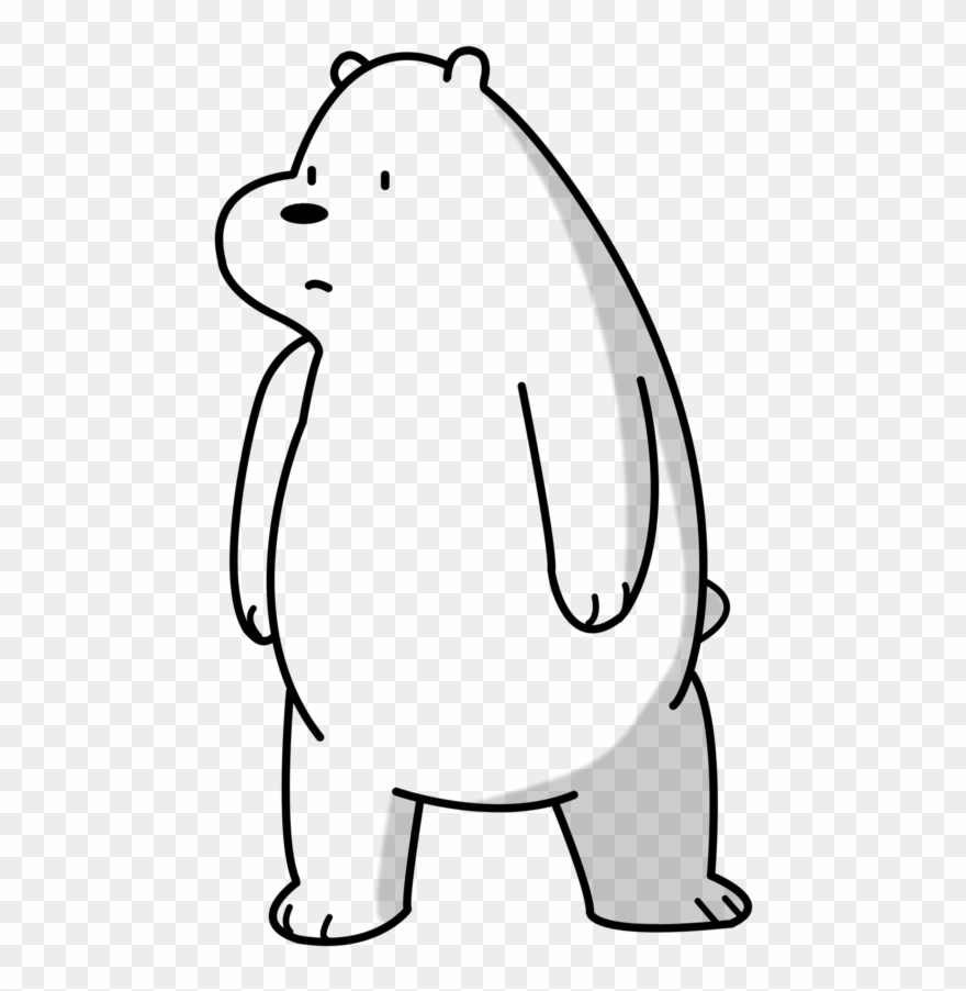 Grizzly bear from we bear bears clipart black and white svg We Bare Bears Template By Teamgold4321-d933mya - We Bare Bears ... svg