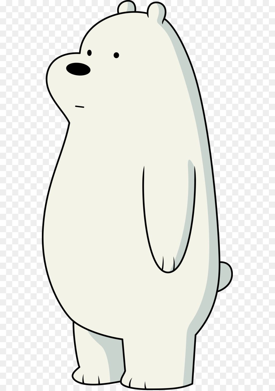 Grizzly bear from we bear bears clipart black and white clip art freeuse stock We Bare Bears Background png download - 625*1277 - Free Transparent ... clip art freeuse stock