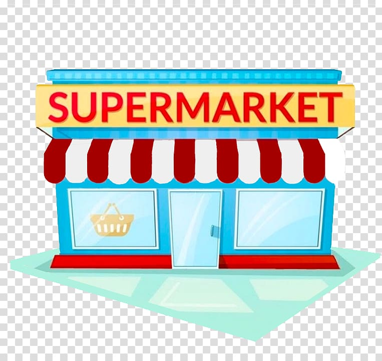 Supermarket background clipart graphic transparent Supermarket store illustration, Grocery store Facade Supermarket ... graphic transparent