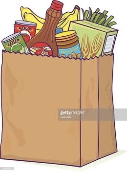 Grocery bag clipart clip free download Download overflowing grocery bag clipart Paper Shopping Bags ... clip free download