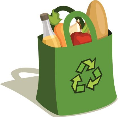 Grocery bag clipart black and white Shopping bag logos images on grocery bags arrows and bag clips ... black and white