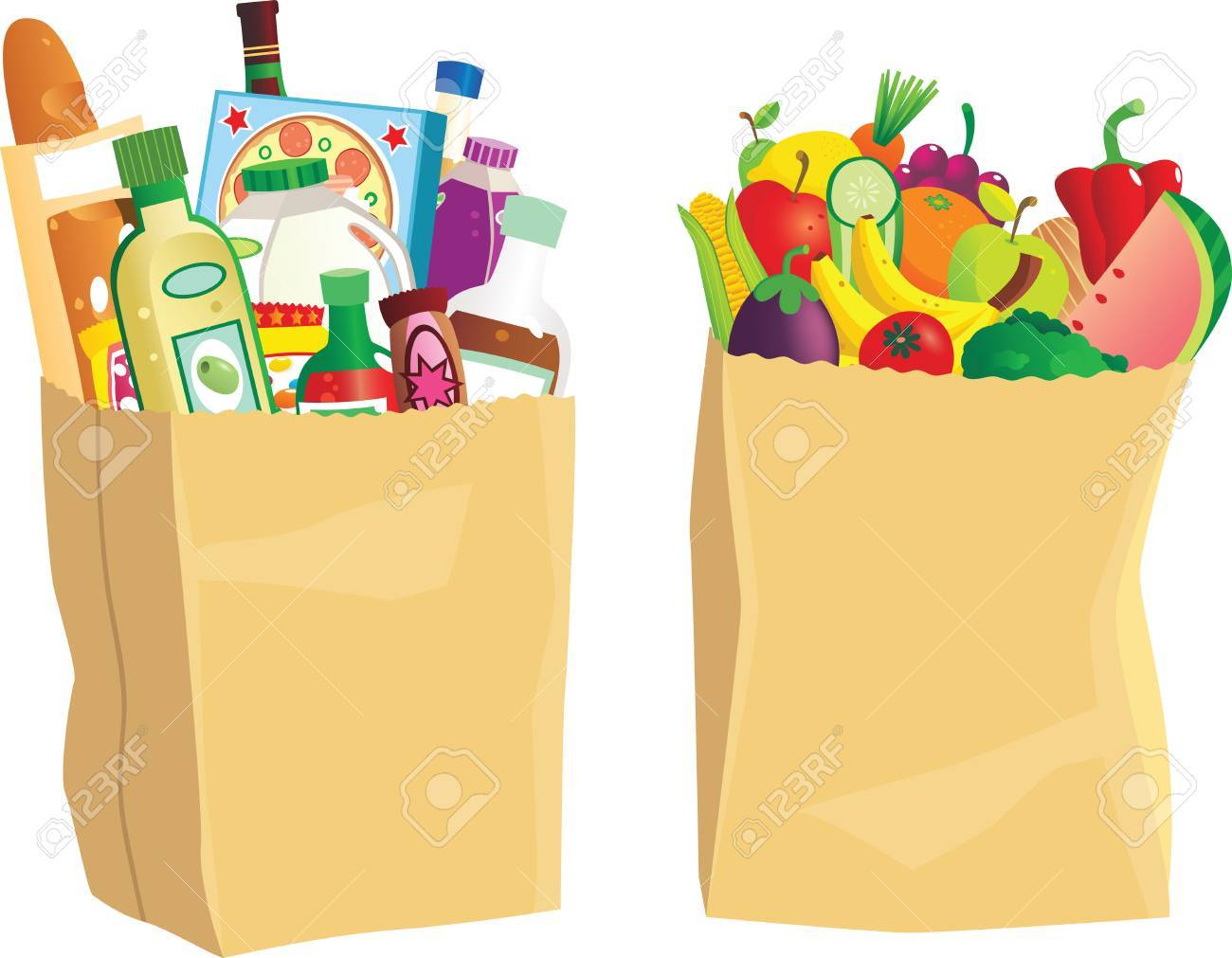 Grocery bag clipart vector library Grocery bag clipart 5 » Clipart Portal vector library