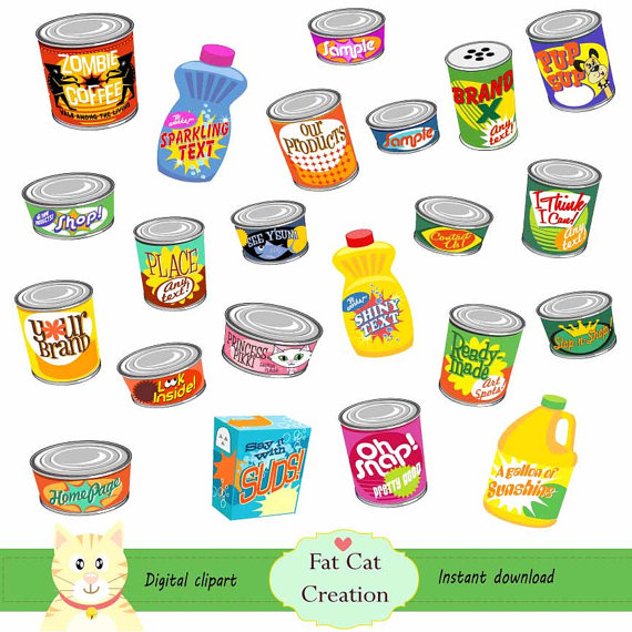 Grocery items clipart image free download Canned clipart grocery - 127 transparent clip arts, images and ... image free download