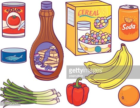 Grocery items clipart jpg black and white download Grocery Food Items premium clipart - ClipartLogo.com jpg black and white download