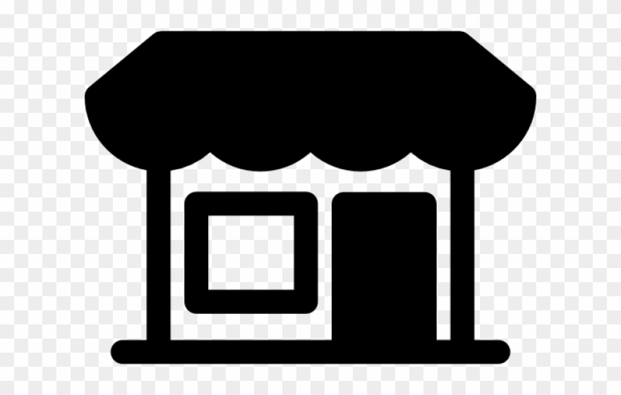 Grocery store building clipart black and white png freeuse stock Market Clipart Grocery Store Building - Icon - Png Download ... png freeuse stock