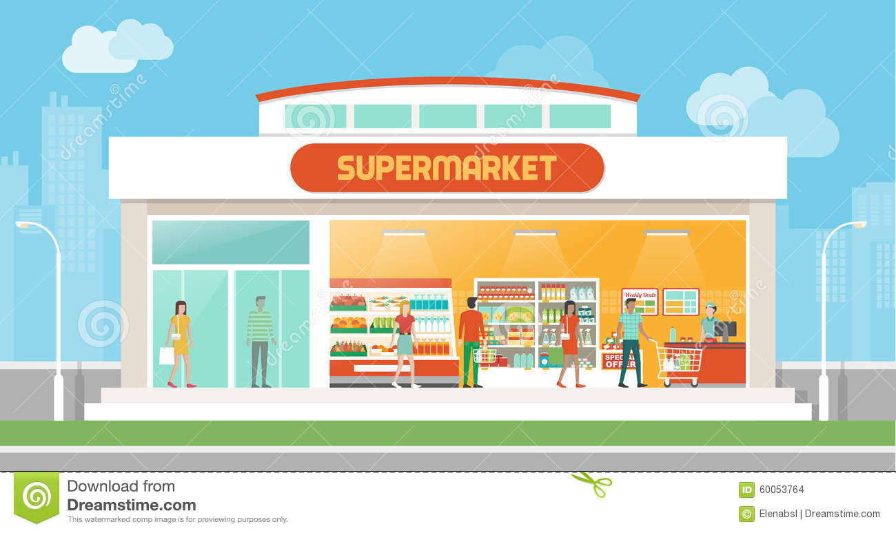 Grocery store building clipart black and white graphic black and white stock Grocery store building clipart black and white 1 » Clipart Station graphic black and white stock