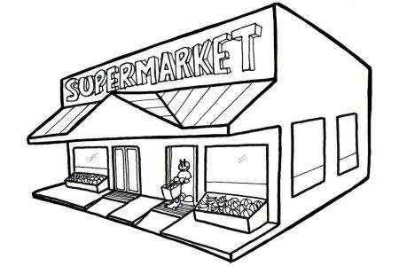 Grocery store building clipart black and white clipart free library Grocery Store Building Clipart Black And White 11 | Clipart Station ... clipart free library