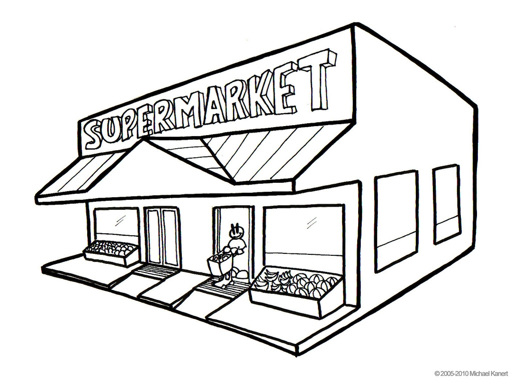 Grocery store building clipart black and white download Grocery store building clipart black and white 6 » Clipart Station download
