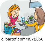 Grocery store clerk clipart freeuse library Cashier Posters & Cashier Art Prints #1 freeuse library