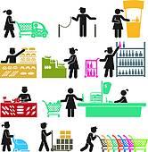 Grocery store clerk clipart jpg royalty free Store clerk Clip Art Illustrations. 292 store clerk clipart EPS ... jpg royalty free