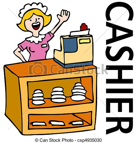 Grocery store clerk clipart picture black and white Cashier Stock Illustrations. 2,231 Cashier clip art images and ... picture black and white