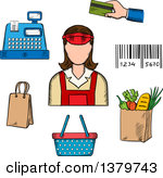 Grocery store clerk clipart clip stock Royalty-Free (RF) Clerk Clipart, Illustrations, Vector Graphics #1 clip stock