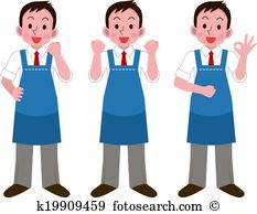 Grocery store clerk clipart clipart royalty free Store clerk Clip Art Illustrations. 292 store clerk clipart EPS ... clipart royalty free